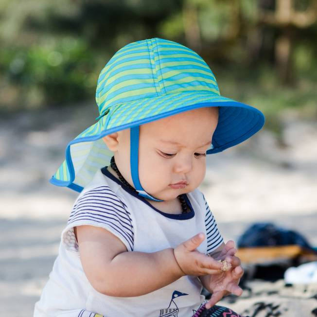 bcde9b604ad Infant Sunsprout Hat Blue Green Stripe Baby Ss18 3000px ...