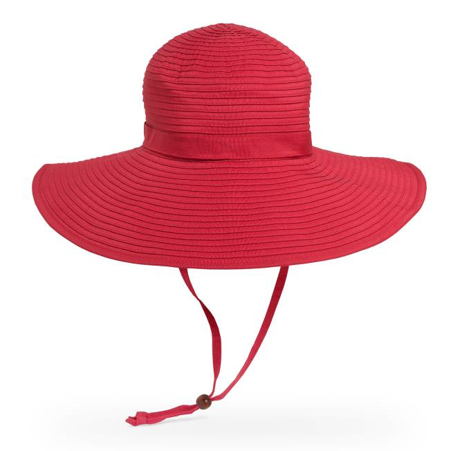 fcec522f Women's Red Sun Hats - Wide Brim | Sunday Afternoons