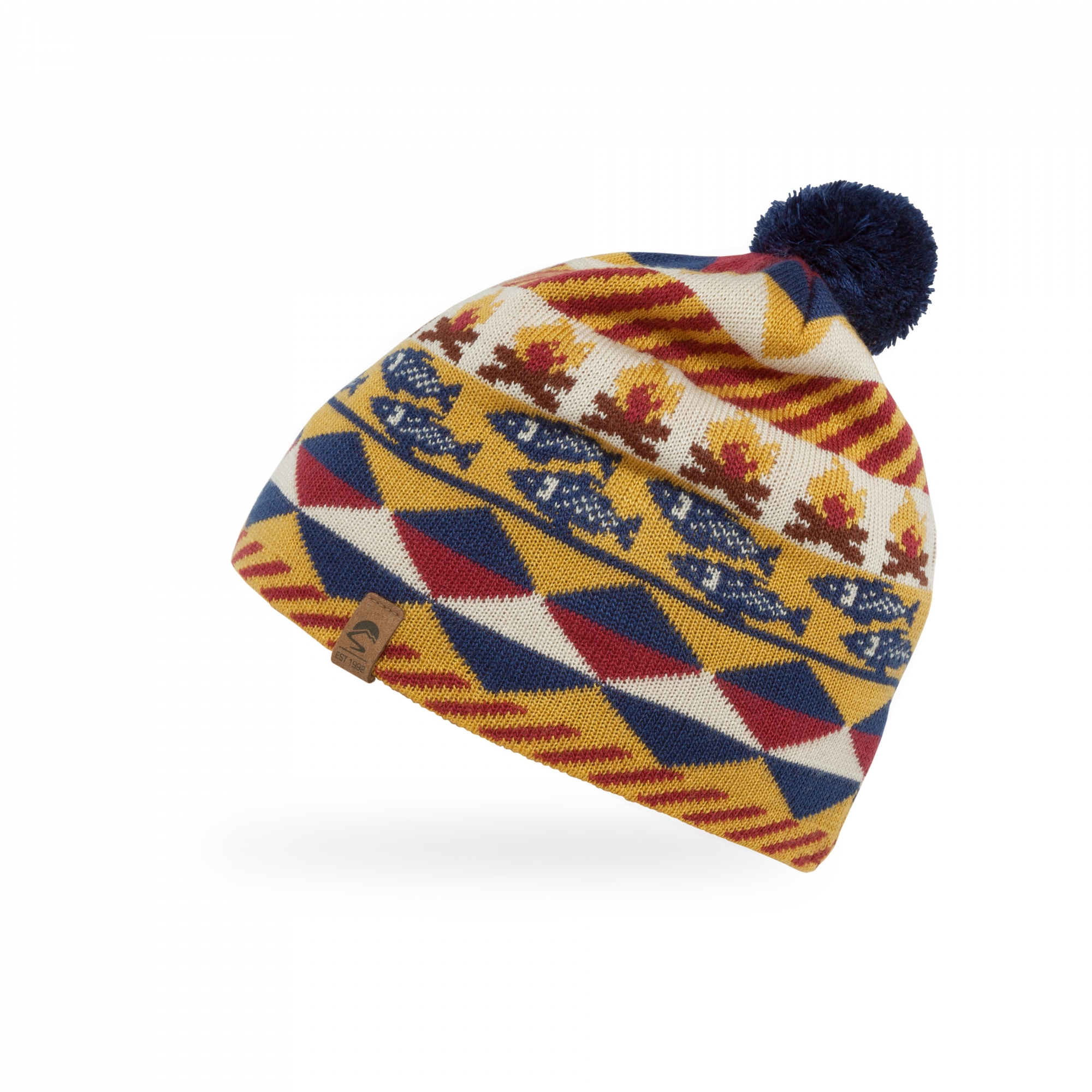 Maple One Size Sunday Afternoons Kids Fish and Fire Beanie